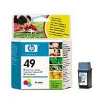 HP No.49 (Yield 160 Pages) Tri-Colour Ink Cartridge (11ml) for DeskJet 6xx (51649NE)