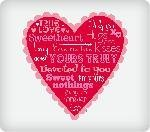 From the Heart Edible Image Cake Topper