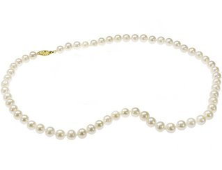 6 - 6.5mm Freshwater Cultured Pearl Necklace with 14K Gold clasp - 18