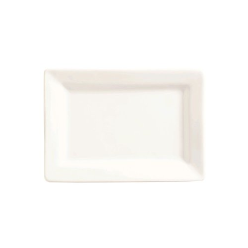"World Tableware Sl-20 Slate White 8""L Rectangular Plate - 24 / Cs"