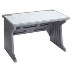 * Aspira Modular Workstation Desk, Resin, 48W X 28D X 30H, Charcoal front-343235