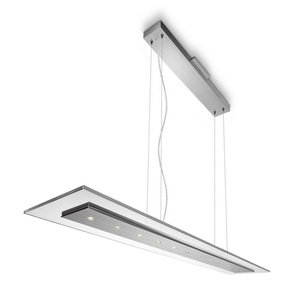 Philips 407431748 Matrix - Led Pendant, Brushed Nickel Finish With Clear Glass