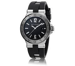 Bvlgari Diagono Automatic Black Dial Black Rubber Mnes Watch DG42BSCVD