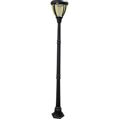 solar lamp post with motion sensor 6ft h 23 leds. Black Bedroom Furniture Sets. Home Design Ideas