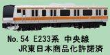 NゲージNO.54 E233系中央線