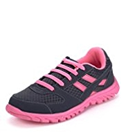 Panelled Lace Up Trainers