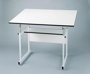 Alvin Workmaster Jr. Drawing table 31 x 42 inch White Top with White Base