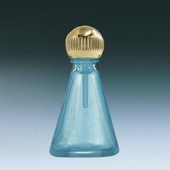 ヤマダアトマイザー パフュームボトル 小ビン 60628 円スイ ブルー ゴールド 約2.5ml