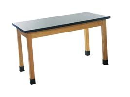 Diversified Woodcrafts P7131K30N UV Finish Solid Oak Wood Table with Plain Apron, Plastic Laminate Top, 54