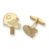 14K Chicago Bears Helmet Cuff Links - JewelryWeb