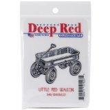 Deep Red Stamps Little Red Wagon Rubber Stamp