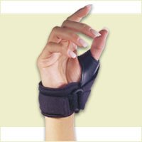 Florida Orthopedics Tether Thumb Stabilizer Black Choose Right or LeftB00011CQNM