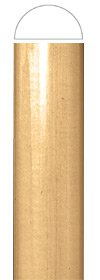 White River # CM2443-CH, Small Traditional Half Lineal, 1 inch W x 1/2 inch D x 96 inch H, Cherry