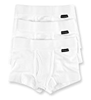 3 Pack Autograph Superfine Pure Cotton Plain Trunks