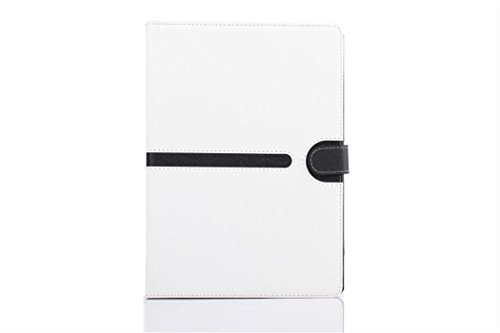 Apple Ipad Air 2 Case Borch Fashion Luxury Multi-Function Protective Leather Light-Weight Folding Flip Smart Case Cover For For Ipad Air 2 (White)
