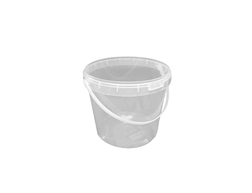 Choice-Pac 3So-1681 Polypropylene Round Bucket With Lid And Handle, Semi-Clear, 15-Ounce (Case Of 300)