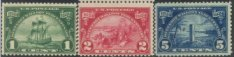 USA Collectible Postage Stamps: 1924 Huguenot - Walloon Tercentenary Issue. SC 614-16. Mint Non Hinged