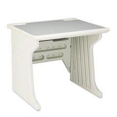 * Aspira Modular Workstation Desk, Resin, 34W X 28D X 30H, Platinum front-531663