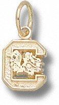 South Carolina Gamecocks 10K Gold ''C'' Gamecock 1/4'' Pendant