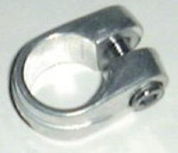1in ALLOY SEAT POST CLAMP-SILVER