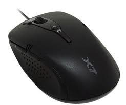 A4Tech X7 XL-760H Anti-Vibrate High Precision Vertical Light 3600DPI Gaming Laser Mouse RoHS - Black