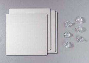Glasadapterplatte 80. Für Tischgestell 80 passend, Alu-Optik