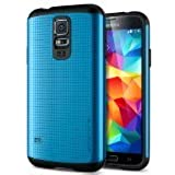 Galaxy S5 Case, Spigen Slim Armor Case for Galaxy S5 - Electric Blue (SGP10753)