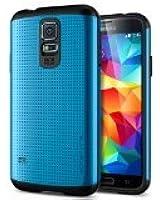 Spigen Slim Armor Coque pour Samsung Galaxy S5 Bleu