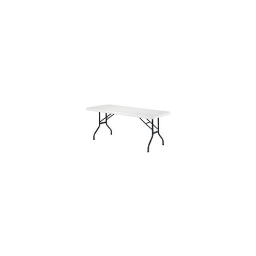 Folding Rectangular Table Size: 122cm W