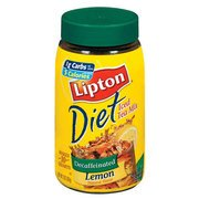 Lipton Diet Lemon Decaffeinated Iced Tea Mix, 3 Oz(Pack Of 4)