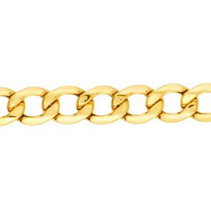 14K Solid Yellow Gold Curb Lite Chain Necklace 5.3mm thick 20 Inches