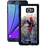 Samsung Galaxy Note 5 Phone Case, Beauty Marvel Comics Spiderman Logo, Luxurious Samsung Galaxy Note 5 Case Soft Rubber Black Cover [Durable] for Girl