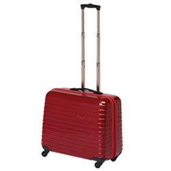 Omni-glide Hard Sided Sewing Machine Trolley Red from hemline