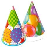 16cm Kids Cardboard Party hats colours vary 1 per order