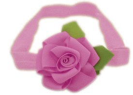 Baby Flower Headband for Infant, Baby, Toddler. Ribbon Rose.