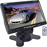 PYLE PLHR77 7'' Wide Screen TFT LCD Video Monitor w/Headrest Shroud and Universal Stand by Pyle