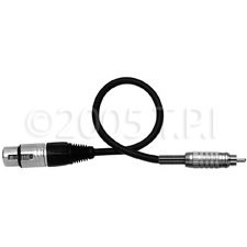 New Tecnec Audio Cable Xlr Female-To-Rca Male 15 Foot Black Excellent Flexibility Cotton Filter