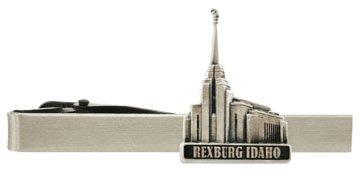 LDS Rexburg Idaho Temple Silver Steel Tie Bar - Tie Clip - Priesthood Gift, LDS Missionary, Tie Clip