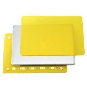 TopCase 2 in 1 Rubberized YELLOW Hard Case Cover and Keyboard Cover for Macbook Pro 15 A1286 with TopCase Mouse Pad (Color: Yellow, Tamaño: Old MacBook Pro 15 w./ DVD DRIVE A1286)