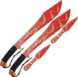 Z Hunter ZB-049RD Red Machete with Black Handle, 24-Inch
