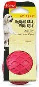RUBBER BALL W/BELL DOG TOY