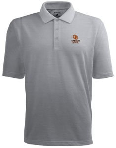 Oregon State Pique Xtra Lite Polo Shirt (Grey) - XXX-Large by Antigua