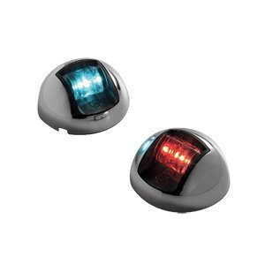 "Brand New Attwood Marine - Attwood Led Vertical Sidelight 12V Red/Green Pair Ss Housing ""Product Category: Electrical/Navigation Lights"""