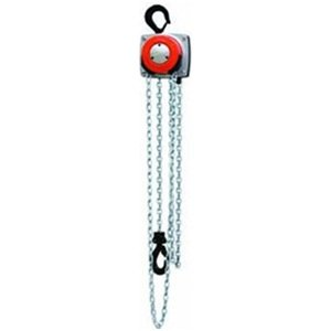 CM 5625A Steel Hurricane Hand Chain Hoist with Hook Mounted, 1000 lbs Capacity, 20' Lift Height