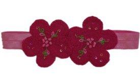 Baby Flower Headband for Infant, Baby, Toddler. Linen Flower. Lulu.