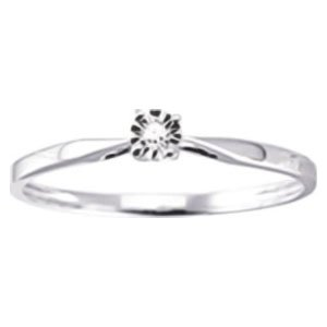 So Chic Jewels - Ladies 9k Yellow Gold 0.013 ct Diamond Solitaire Engagement Ring