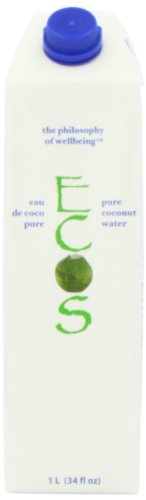Ecos Beverages 100 Percent Pure Tender Coconut Water (12 Pack)