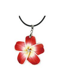 Hawaiian Flower Red Pedal Necklace