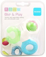 MAM Bite and Play Teether -- 1 Ring - 1