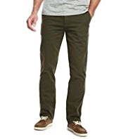 North Coast Pure Cotton Straight Leg Washed Chinos